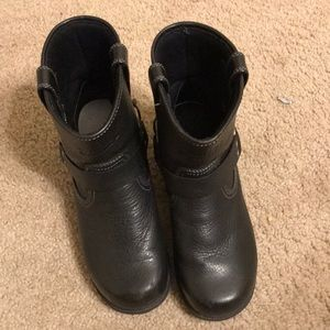 Harley Davidson slip on black ankle booties 8.5